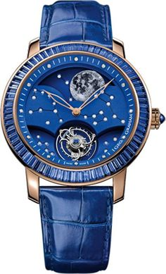 Graham Watch GeoGraham Watch The Moon Limited Edition #bezel-fixed #bracelet-strap-alligator #brand-graham #buckle-type-tang-type-buckle #case-material-gold #case-width-45mm #delivery-timescale-call-us #dial-colour-blue #gender-mens #limited-edition-yes #