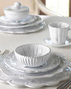 Vietri Incanto White Dinnerware