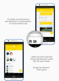 Snapchat Ui/UX redesign