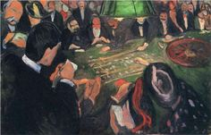 Edvard Munch (Norwegian, 1863-1944), By the Roulette, c. 1892. Oil on canvas. 74.5 x 115.5 cm. Munch Museum, Oslo.