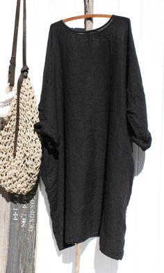 Linen Dresses, Cotton Dresses, Mode Outfits, Fashion Outfits, Modest Fashion, Fashion Tips, Long Sleeve Tops, Long Sleeve Shirts, Long Shirts
