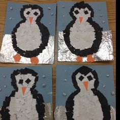 Mosaic Penguins art project- These came out very cute!  All of the gluing involved took up the full hour of art time.