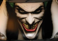 airbrush motorcycles | Joker Airbrush Design | Collection Celebrity Tattoo Airbrush