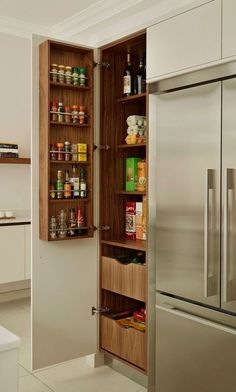 #homedecor #kitchenideas #inspiration | Photo of a transitional kitchen pantry in Chicago with gray cabinets. — Houzz