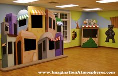 "Children's ""Jerusalem Puppet Stage"" for church. www.ImaginationAtmospheres.com"