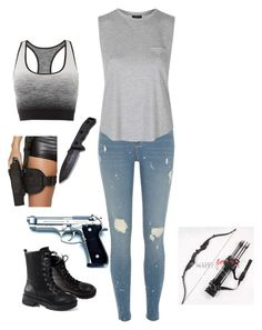"""Untitled #1"" by rose-mia-hemmings on Polyvore featuring Beretta, Pepper & Mayne, River Island and Topshop"
