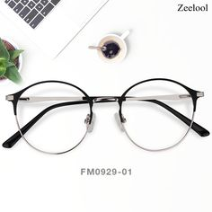 4f79e15d3fb Jared Round Black-Silver Glasses ZM0929-01