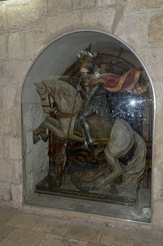 St. George and the Dragon - Cloister  of St. Jerome in Bethlehem
