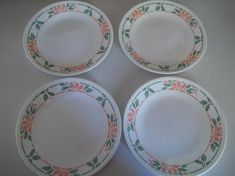 4 Beautiful Corelle Island Breeze Bread Plates, 6 Made in the USA! Pre Loved and in Very Good Condtion Correlle Dishes, Spring Blossom, Mug Cup, Breeze, Dinnerware, Decorative Plates, Island, Usa, Antiques