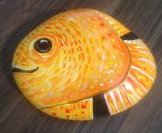 Hand painted rock fish by Cobblecreatures on Etsy, £7.00
