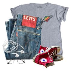"""LIKE TO JOIN TAGLIST OR RTD"" by bandsvansandsodacans ❤ liked on Polyvore featuring Levi's and Converse"