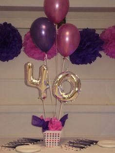 Un precioso ramillete para decorar una fiesta 40 cumplea os o para sorprender a alguien en su - Decoracion cumpleanos anos ...