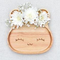 Eco wooden Laughing rabbit plate is Summer ready! Make mealtimes fun at bluebrontide.com