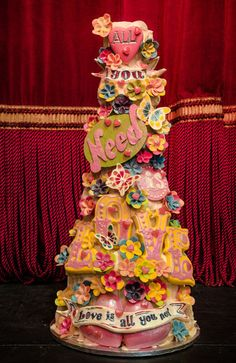 All You Need is Love | Choccywoccydoodah     I love this Artist/s and want to see them if I ever get to the UK. This is 5 tiers of chocolate with everything on it chocolate. WOW!