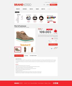 E-commerce & Shopping Site Template, Free PSD by Enes Danıs