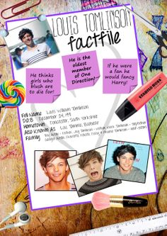 Louis Tomlinson fact file
