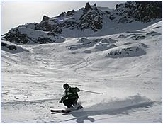Backcountry ski touring Patagonia