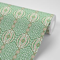 Ottoman Jewel - Kelly Green Wallpaper - Nomad Collection – Mitchell Black Home Green Velvet Fabric, Velvet Upholstery Fabric, Wallpaper Paste, Green Wallpaper, Green Ottoman, Kelly Green, Paper Texture, Black House, Jewels