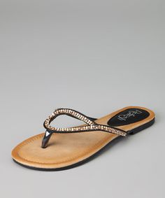Take a look at this Black Maddy-03 Sandal by Refresh on #zulily today!