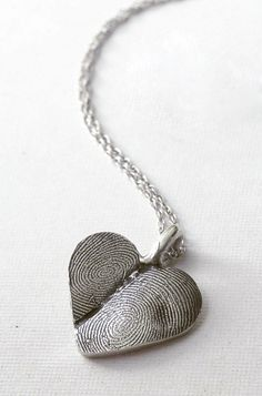 Custom fingerprints necklace