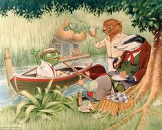 In The Wind In The Willows, Rat, Mole, Toad and Badger love messing about on the river ban...