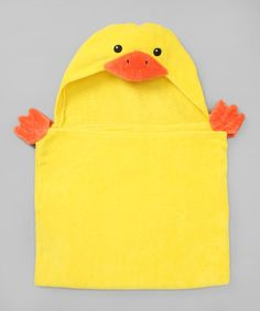 Another great find on #zulily! Yellow Duck Hooded Towel #zulilyfinds