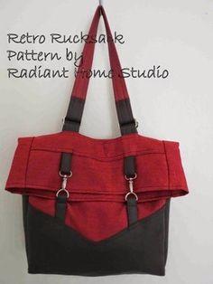 Uma bolsa retro muito bonita | Arte com Tecidos