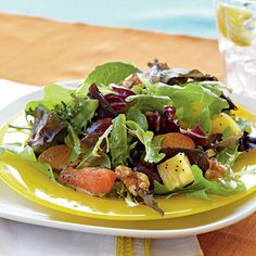 Mixed Citrus Green Salad with Orange Poppy Seed Dressing by cookinglight #Salad #Citrus #Orange_Poppy_Seed