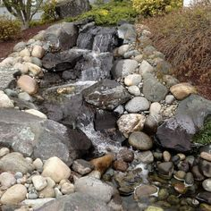 Dry Creek Bed, Diy Outdoor Kitchen, Ponds Backyard, Garden Landscaping, Firewood, New Homes, Landscape, Water, Flowers