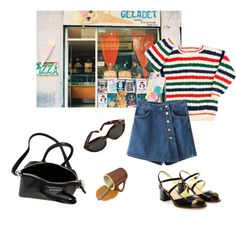 90's Italian babe. by lost-in-the-music on Polyvore featuring Pollini, Givenchy and Yves Saint Laurent