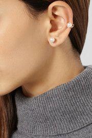 Ana KhouriJane 18-karat gold pearl ear cuff