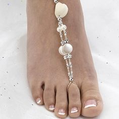 Seashell Beaded Foot Jewelry Set