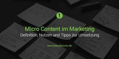 Micro Content im Marketing