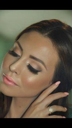 Pretty makeup - Best Wedding Makeups - Augen Make Up Wedding Makeup Tips, Natural Wedding Makeup, Bridal Hair And Makeup, Natural Makeup, Natural Tan, Wedding Nails, Soft Makeup, Natural Glow, Wedding Guest Makeup