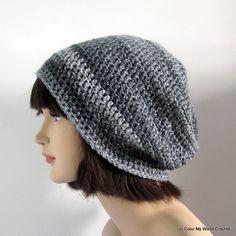 Crochet Hat  Slouchy Beanie  Crochet by ColorMyWorldCrochet, $21.00