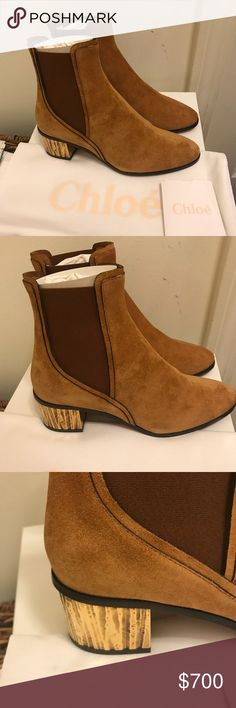 0f17a4d33d4c1 NEW Chloe Quassie Suede Ankle Boots Details Crafted of light brown suede