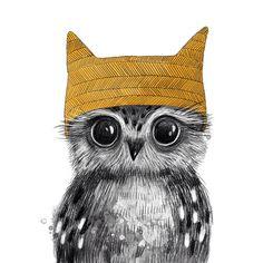 Owl art by ©Julia Grigorieva