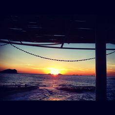 Sunset in Ibiza Photo by Elena Ravano