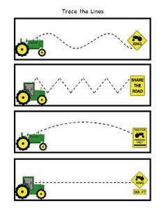Little Green Tractor Pattern Cards