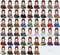 My Sims 4 Blog: Scarves for Males and Females by Marigold