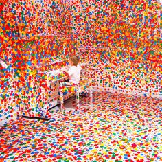 The Obliterations Room by Yayoi Kusama  I knew Yayoi when I lived in NYC, she lived next door.