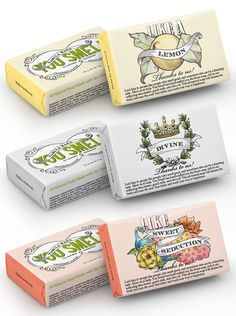 """You Smell"" by Megan Cummins. Soaps for people who love design and appreciate witty humor. ;)"