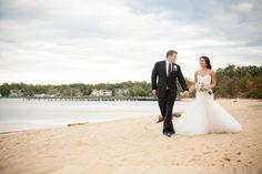 Chesapeake Bay Foundation Wedding  Blog — Wedding Savvy Wedding Inc. Bride and Groom on the beach