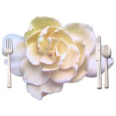 Click on the image to get the white #rose #placemat  Placemat with photo of a white rose. The table place mat is printed one side with a white and the othe side with a beige rose.  Nice fore wedding table decorations. Size 50x39cm. Placemat with photo of a white rose. The table place mat is printed one side with a white and the othe side with a beige rose.  Nice fore #wedding table #decorations. Size 50x39cm.