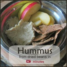 Eco-novice: Hummus from Dried Beans in 5 Minutes