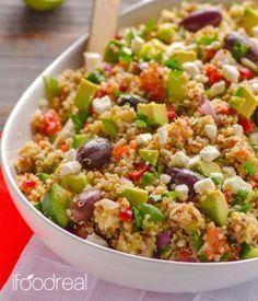 Related PostsMediterranean Kale SaladQuinoa Tabbouleh SaladIsraeli Couscous Salad with Mediterranean Roasted VegetablesKale, Edamame, and Quinoa SaladSouthwestern Blue Quinoa Salad