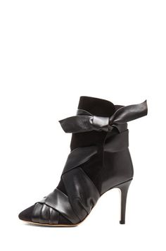 Isabel Marant | Angie Calfskin Velvet Leather Booties in Black www.FORWARDbyelysewalker.com, How would you style these? http://keep.com/isabel-marant-angie-calfskin-velvet-leather-booties-in-black-wwwforwardbyelysewalkercom-by-samantha_wennerstrom/k/0F8DfHABBn/