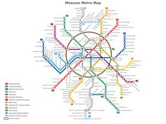 Moscow Metro Map created by www.conceptdraw.com