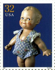 Scootles doll. Stamp. USPS 1997.
