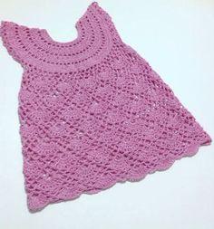 Crochet dress for 3-4 years-old girl pattern Vintage por etty2504